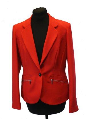 Ashley Brooke Blazer court rouge tissu mixte