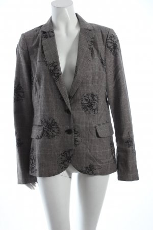 Jackpot Blazer anthrazit-grau Blumenmuster Business-Look