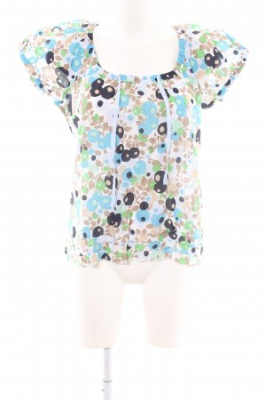 Jackpot Kurzarm-Bluse Allover-Druck Casual-Look