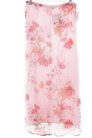 Jackpot Midirock rosa-rot florales Muster Romantik-Look