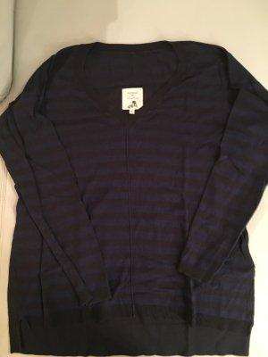 JACKPOT Pullover mit V-Ausschnitt, leichte Qualität, getreift, Gr. XL, NEU und ungetragen