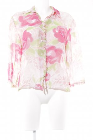 Jackpot Rüschen-Bluse florales Muster Romantik-Look