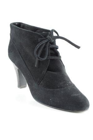 Jackpot Schnür-Stiefeletten schwarz schlichter Stil