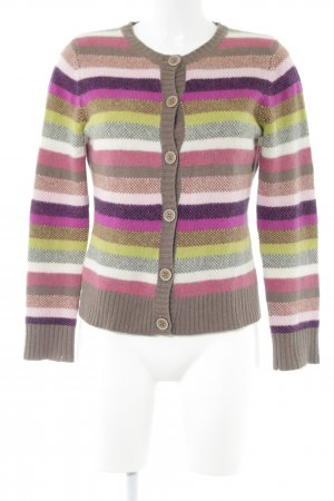 Jackpot Strick Cardigan Streifenmuster Casual-Look