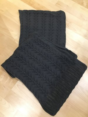 Jackpot Knitted Scarf dark grey-anthracite cotton