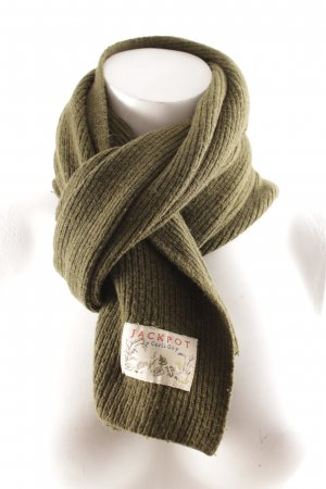 Jackpot Knitted Scarf olive green casual look