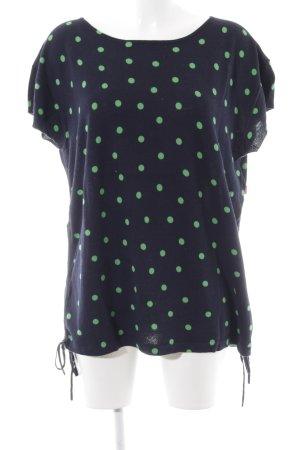 Jackpot T-Shirt blau-grün Punktemuster Casual-Look