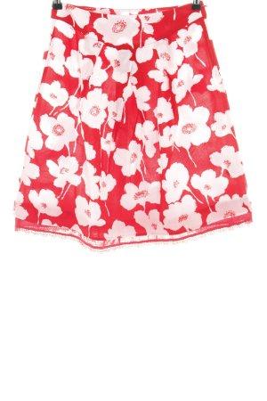Jackpot Jupe corolle rouge-blanc motif de fleur style décontracté