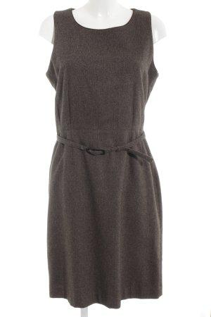 Jackpot Wollen jurk grijs-bruin-donkerbruin gestippeld zakelijke stijl