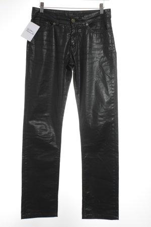 Jacky-O High-Waist Hose schwarz Biker-Look