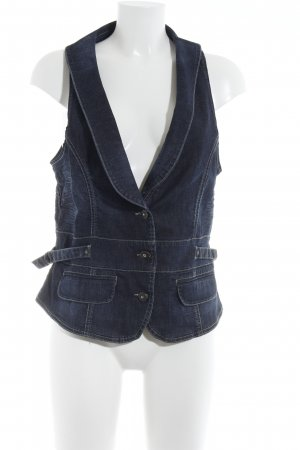 Jacky-O Denim Vest dark blue casual look