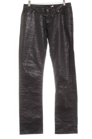 Jacky-O Lederhose schwarz Casual-Look
