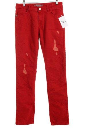 Jacky-O Skinny Jeans rot Street-Fashion-Look