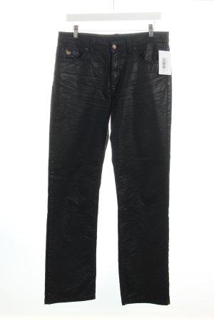 Jacky-O Straight-Leg Jeans schwarz Biker-Look