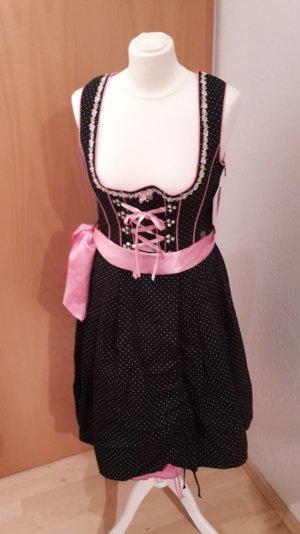 MarJo Dirndl zwart-roze