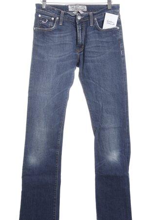 Jacob Cohen Boot Cut Jeans stahlblau-dunkelblau Casual-Look