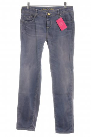 Jacob Cohen Tube jeans neon blauw casual uitstraling