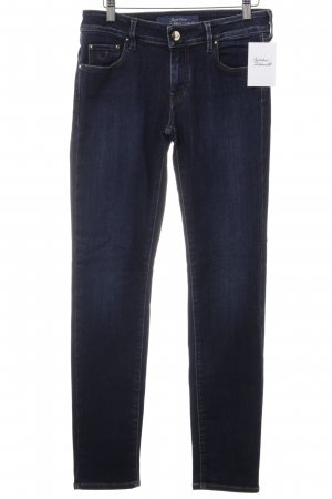 Jacob Cohen Slim Jeans dunkelblau Street-Fashion-Look