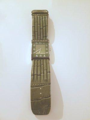 Jacques Lemans Reloj con pulsera de cuero verde oliva Cuero