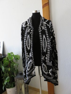 H&M Cardigan black-white