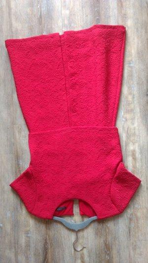 Jacquard Kleid Zara rot Neu