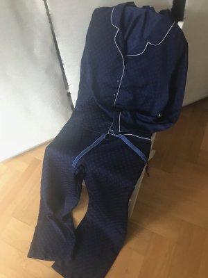 Tchibo / TCM Pijama azul oscuro-blanco