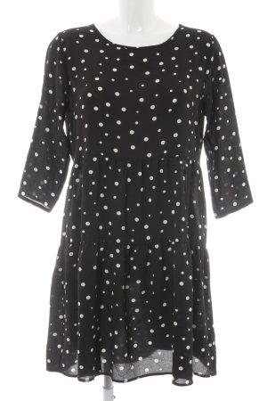 Jacqueline de Yong A-Linien Kleid schwarz-weiß Punktemuster Casual-Look