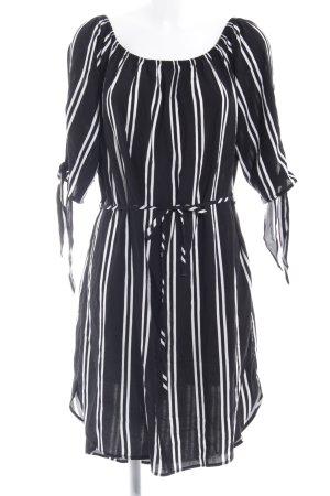 Jacqueline de Yong Bandeaukleid schwarz-weiß Streifenmuster Casual-Look