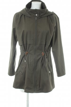 Jacqueline de Yong Hooded Coat khaki casual look