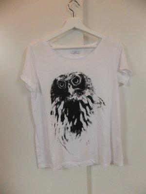 Jacqueline de Yong Print T-Shirt mit Eule