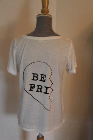"""Jacqueline de Yong Shirt  Gr. M """"Be Friends"""""""