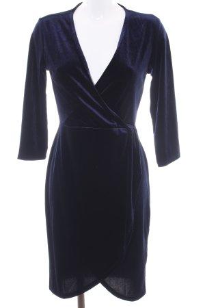 Jacqueline de Yong Vestido cruzado azul oscuro elegante