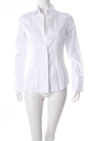 Jacques britt Langarm-Bluse weiß klassischer Stil