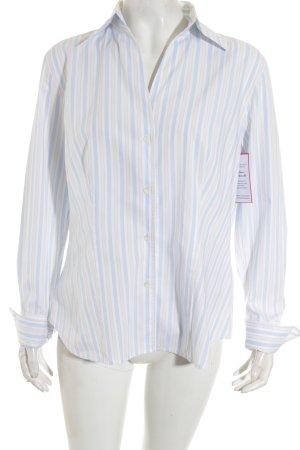 Jacques britt Chemise à manches longues motif rayé style décontracté
