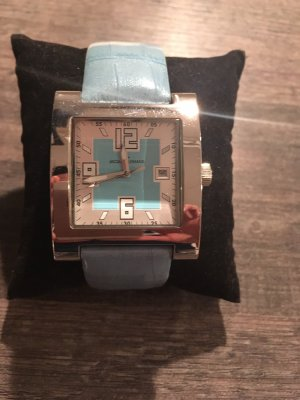 Jacques Lemans Watch With Leather Strap baby blue-light blue