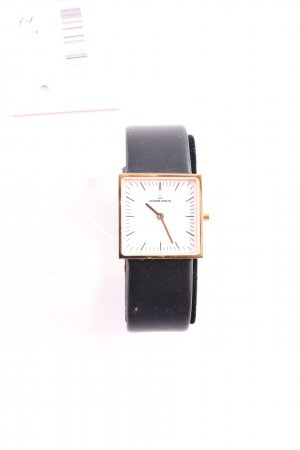 Jacques Lemans Watch With Leather Strap black business style