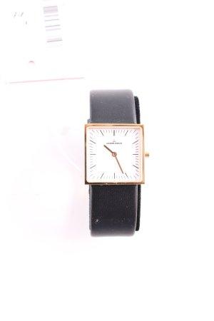 Jacques Lemans Uhr mit Lederarmband schwarz Business-Look