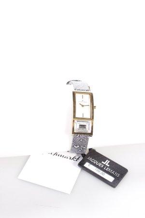 Jacques Lemans Uhr mit Lederarmband mehrfarbig Schmucksteinverzierung