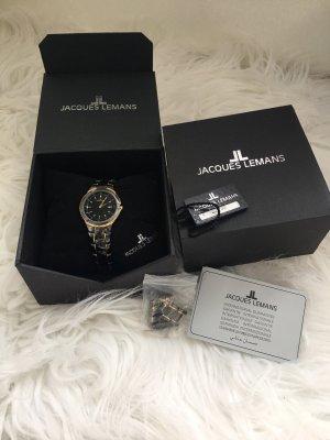 Jacques Lemans Uhr schwarz gold