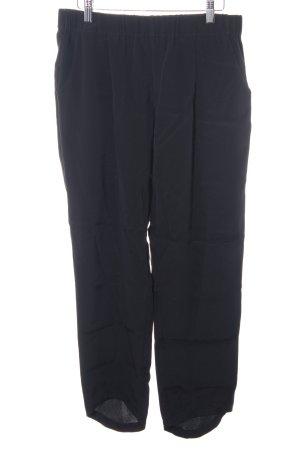 Jadicted Pantalon 7/8 noir style d'affaires