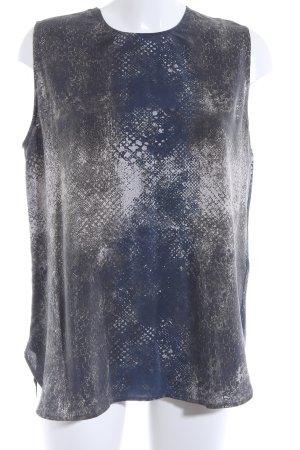 Jadicted ärmellose Bluse khaki-dunkelblau abstraktes Muster Casual-Look