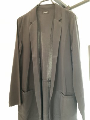 Jadicted Blazer largo negro Seda