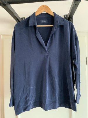 Jadicted Zijden blouse staalblauw Zijde