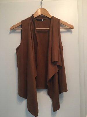 Only Fleece Vest light brown
