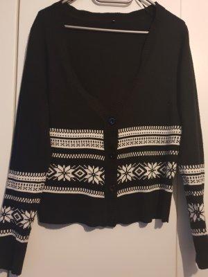 Pull en laine blanc-noir