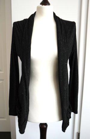 Jäckchen aus Jersey in schwarz mit silber von Topshop