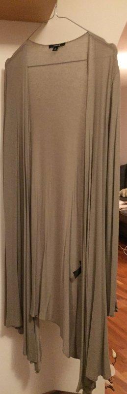 Comma Long Knitted Vest light grey
