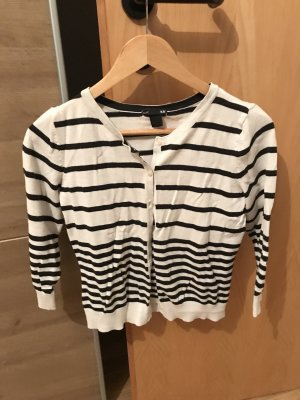 H&M Shirt Jacket black-white