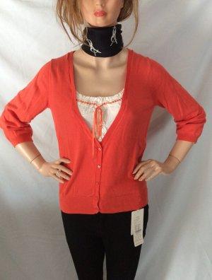 Basic Line Wool Jacket bright red-white