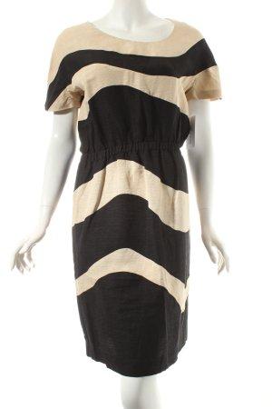 Jaeger Kurzarmkleid schwarz-creme Elegant